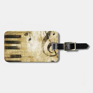 Piano Music Notes Travel Bag Tag