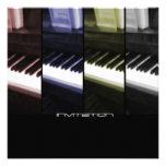 Piano/Music of Life Invitation-Announcement Custom Announcement