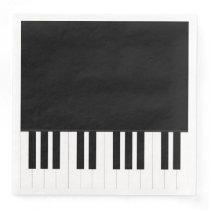 PIANO MUSIC PAPER DINNER NAPKIN