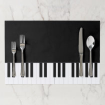 PIANO MUSIC PAPER PLACEMAT