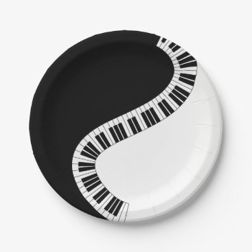 USA Themed Piano Music Paper Plate