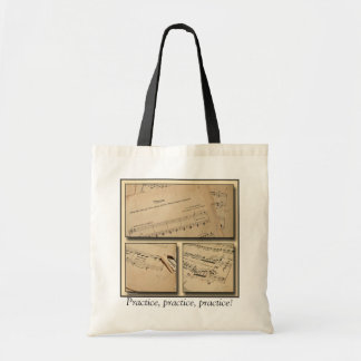 Piano Music Practice Tote Bag