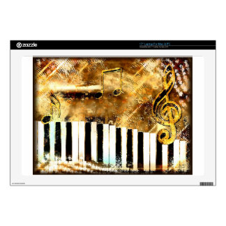 Piano Music Decal For Laptop