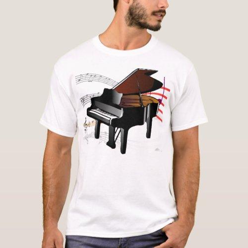 Piano Music T_Shirt
