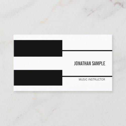 Piano Music Teacher Instructor Creative Modern Business Card