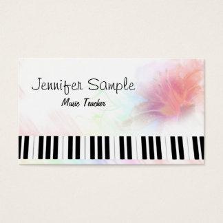 Piano Music Teacher Professional Elegant Business Card