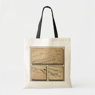 Piano Music Tote Bag