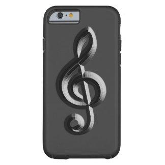 Piano musical emboss tough iPhone 6 case