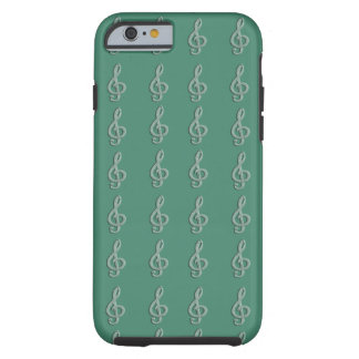 Piano musical G-clef Tough iPhone 6 Case