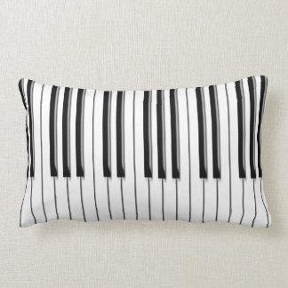Piano musical lumbar pillow