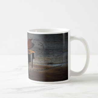 Piano ~ Musical Scale ~ Barnwood Background Coffee Mug