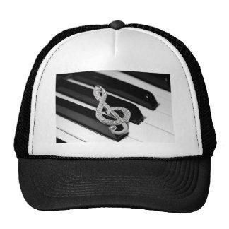 Piano musical symbol trucker hat