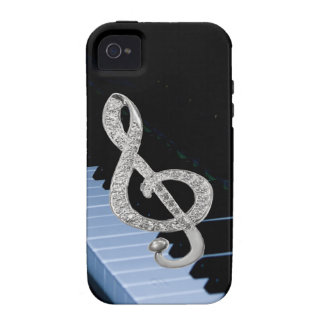 Piano musical symbol vibe iPhone 4 cover