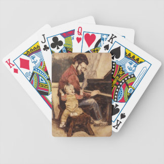 Piano Musician Father and Son Bicycle Playing Cards