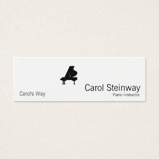Piano / Musician / Teacher Mini Business Card