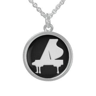 Piano Round Pendant Necklace