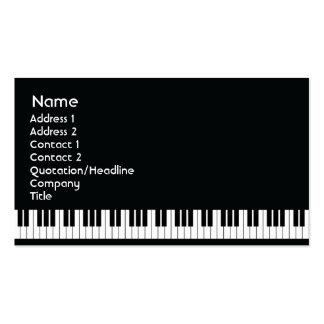 Piano - negocio tarjetas de visita