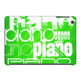 Piano; Neon Green Stripes. iPad Mini Retina Covers