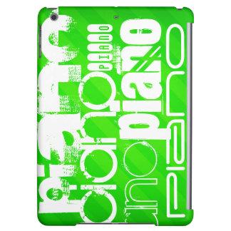 Piano; Neon Green Stripes. iPad Air Cases