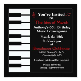Piano note invitation card invites
