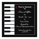Piano note invitation card