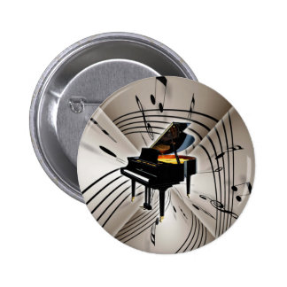 Piano Notes and Staff Button