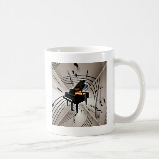 Piano Notes and Staff Coffee Mug