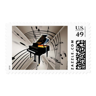Piano Notes and Staff Postage