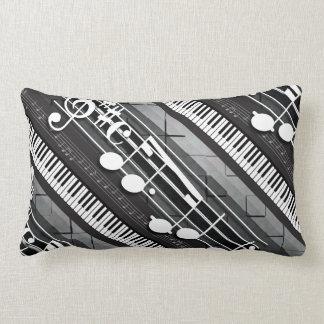 Piano Notes Lumbar Pillow