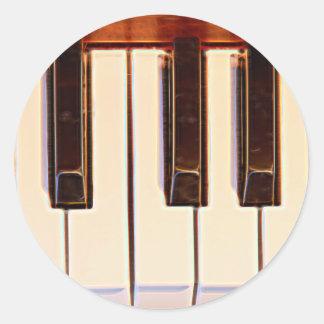Piano Octave Classic Round Sticker