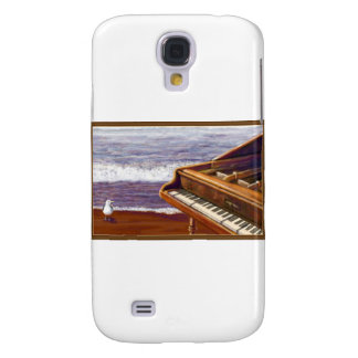 Piano on a Beach Galaxy S4 Covers