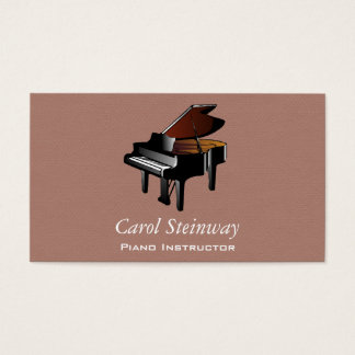 Piano on Orchid Faux Flannel Business Card