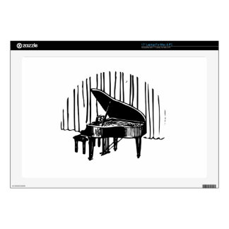 "Piano On Stage 17"" Laptop Decals"