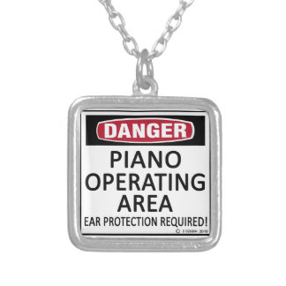 Piano Operating Area Personalized Necklace