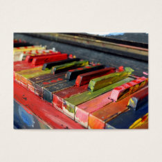 Piano Or Music Lesson Business Card at Zazzle