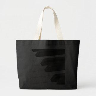 Piano or Organ Keyboard Keys Tote Bags