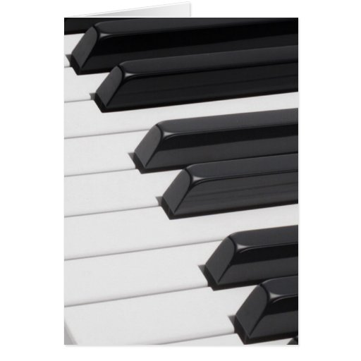 Piano or Organ Keyboard Keys Card