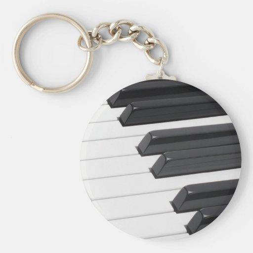 Piano or Organ Keyboard Keys Keychains