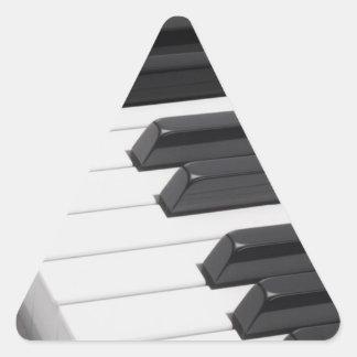 Piano or Organ Keyboard Keys Triangle Sticker