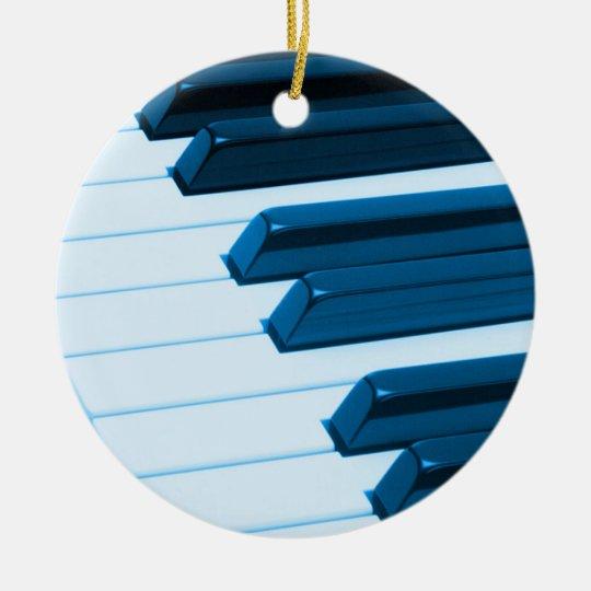 Piano or Organ Keys Christmas Ornament