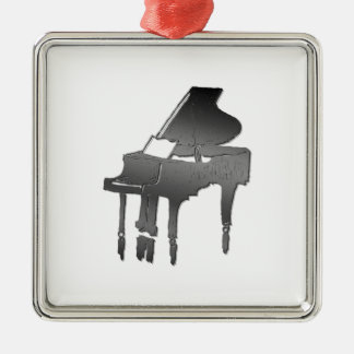 piano square metal christmas ornament