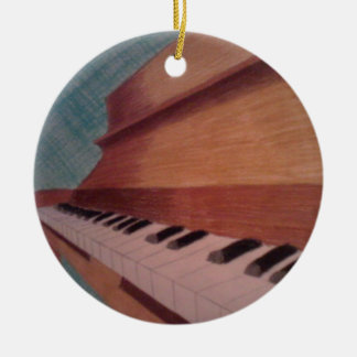 piano christmas ornament