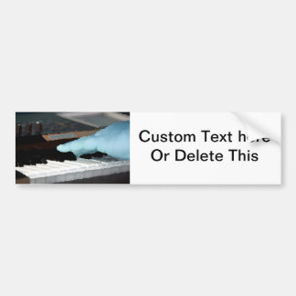 piano painterly blue electric left hand playing ke bumper sticker