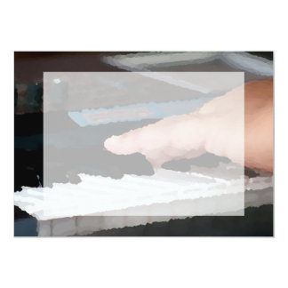 piano painterly electric left hand playing keys card
