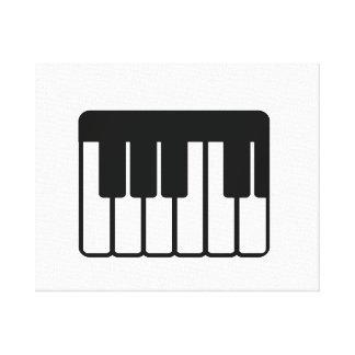 piano part png del teclado impresión en lona