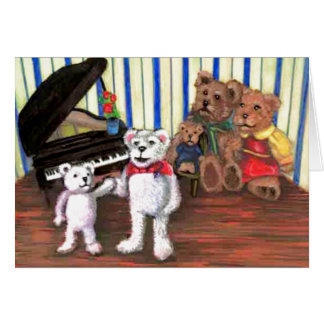 Piano Party Card