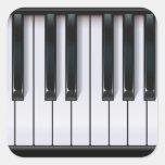 Piano Pegatina Cuadrada