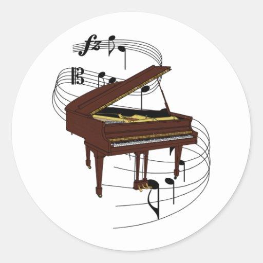 Piano Pegatina Redonda