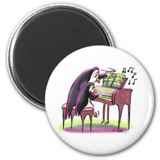 pIaNo pEnGuInS 2 Inch Round Magnet