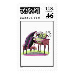 pIaNo pEnGuInS Postage Stamp